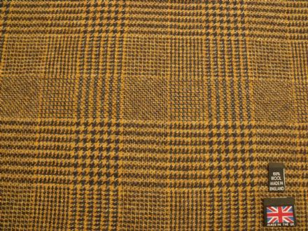 100% Wool Tweed Glen Check Design Fabric  BZ28